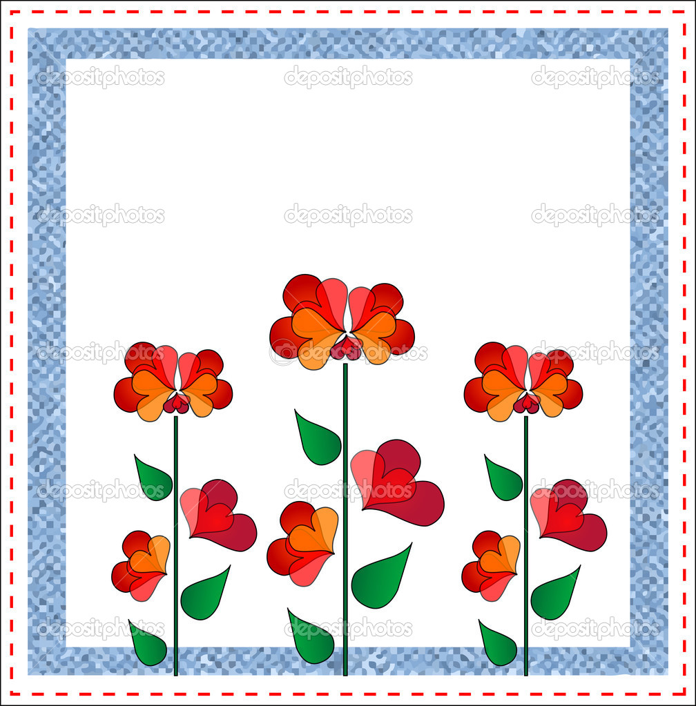Valentines day floral design.Vector illustration EPS 10 — Stock Vector #1836766