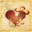 Royalty-Free Stock Imagen vectorial: Vintage valentines day greeting card