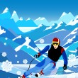 Royalty-Free Stock Vector Image: Skier