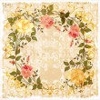 Vintage greeting card - Stock Vector