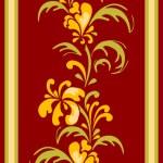 Floral designe for carpet — Stock Vector