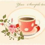 Retro tasse de café — Vecteur