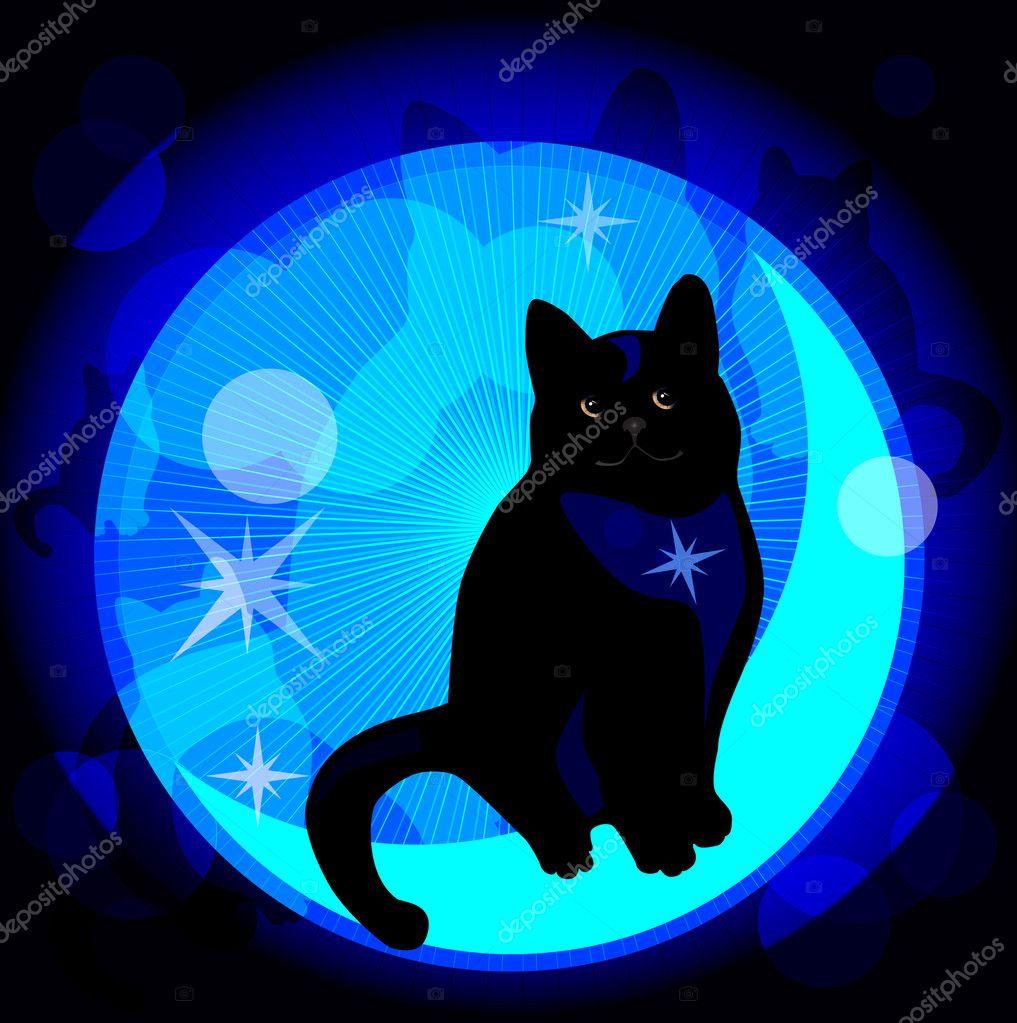 Blue Dreaming Cat