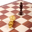 Chess board fragment isolated on white - Stock Photo