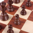 Chess board fragment — Stockfoto