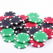 Stock Photo: Poker tokens