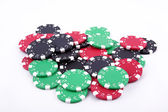 Poker tokens — Stock Photo