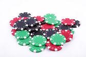 Poker tokens — Stock Photo