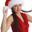 Royalty-Free Stock Photo: Attractive smiling woman in Santa Cap