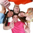 Happy boys and girls smiling — Stock Photo #1222464