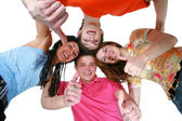 Happy boys and girls smiling — Stock Photo