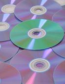 комбинацию компьютера dvd-дисков — Стоковое фото