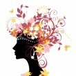 Royalty-Free Stock Vector Image: Woman with flowers