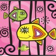 Decorative fishes — Stockvektor