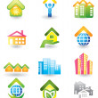 Vector de stock : Real Estate - Icon Set