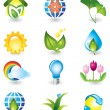 Set of nature design elements — Stock Vector #1232559