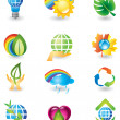 Set of nature design elements — Stock Vector #1232584