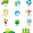 Set of nature design elements — Stock Vector #1232805