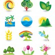 Set of nature design elements — Stock Vector