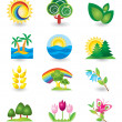 Set of nature design elements - Stock Vector