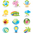 Set of nature design elements — Stock Vector #1232841