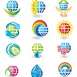 Royalty-Free Stock Vector Image: Set of globe design icons