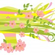Spring woman — Stock Vector