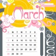 March — Stock Vector