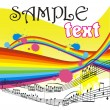 Royalty-Free Stock Vector Image: Background with musical notes