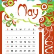 May — Stock Vector