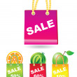 Sale shopping bags — Stock Vector
