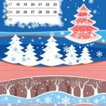 Decorative Frame for calendar - January — Stock Vector #1234395