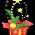 Christmas gift box — Stock Vector #1235075