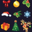 Vector Christmas set — Stockvektor