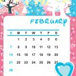 Royalty-Free Stock Imagen vectorial: February