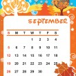 September — Stock Vector