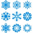 Vector snowflakes — Stock Vector #1237051