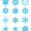 Vector snowflakes — Stockvectorbeeld
