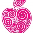 Apple-heart - Vettoriali Stock 