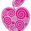 Apple-heart — Stock Vector