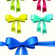 Set of vector bows - Stock Vector