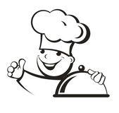 Cook — Stock Vector