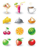 Set of food objects — Stock Vector