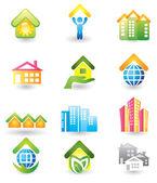 Real Estate - Icon Set — Stock Vector