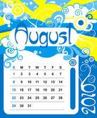 Decorative Frame for calendar - August — Stock Vector