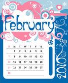 únor — Stock vektor