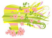 Spring woman — Stock Vector