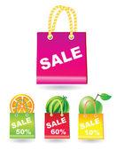 Sale shopping bags — Stock Vector