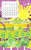 Decorative Frame for calendar - July — Stock Vector