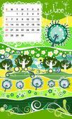 Decorative Frame for calendar - June — Stock Vector